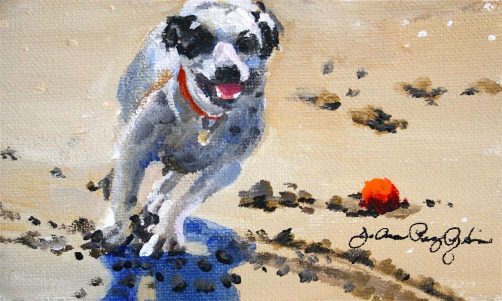 """""""Delivered!"""" original fine art by JoAnne Perez Robinson"""
