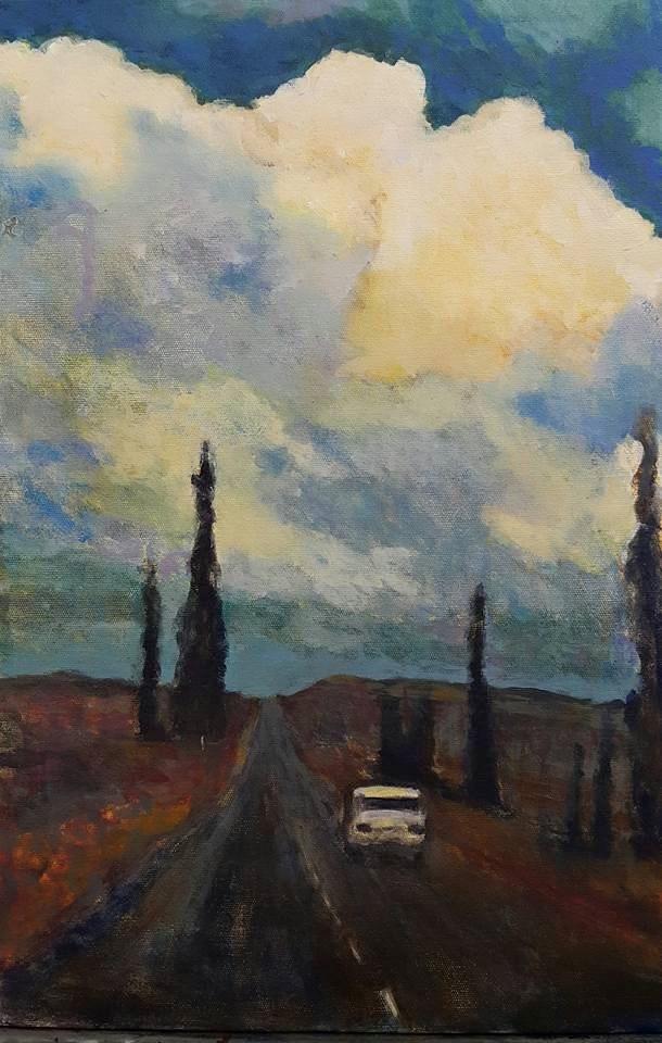 """""""Clarens after van Gogh"""" original fine art by Rentia Coetzee"""