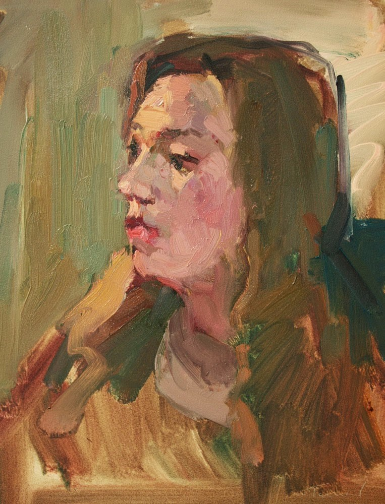"""""""Young Woman"""" original fine art by Kathryn Townsend"""