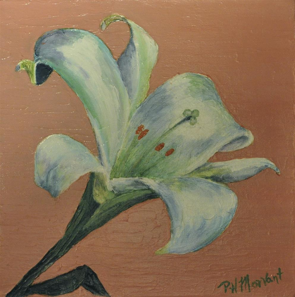 """""""Easter Lily"""" original fine art by Peggy W Morvant"""