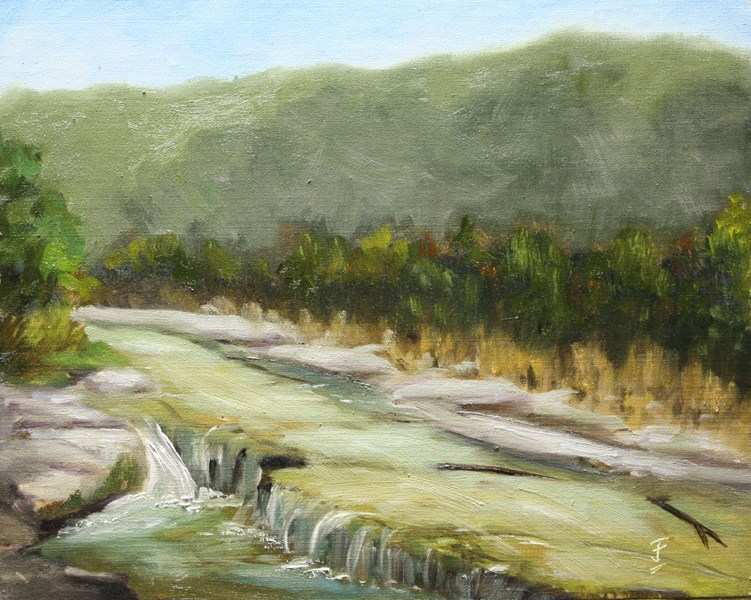 """Bull Creek December"" original fine art by Jane Frederick"