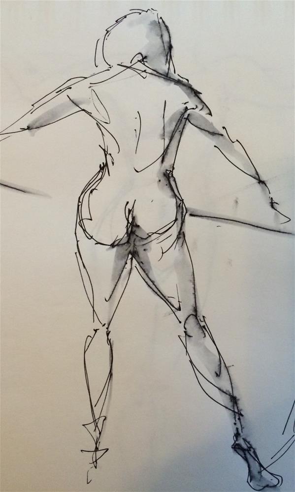"""""""Nude 1"""" original fine art by Naomi Bautista"""