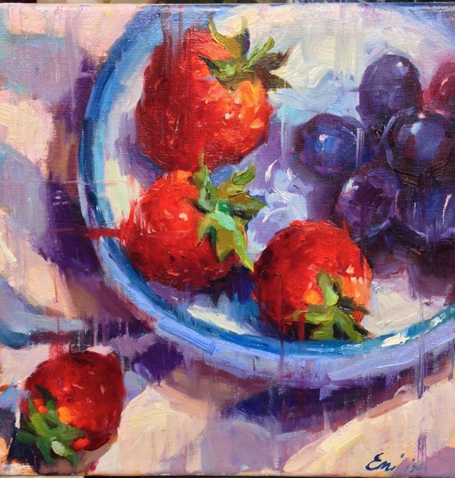 """Midnight Snack"" original fine art by Emiliya Lane"