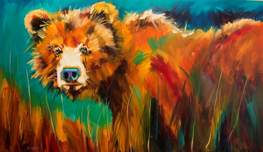 """Brush Bear"" original fine art by Diane Whitehead"
