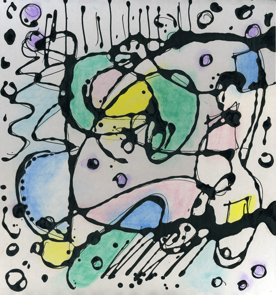 """""""Lines and Curves"""" original fine art by Kali Parsons"""