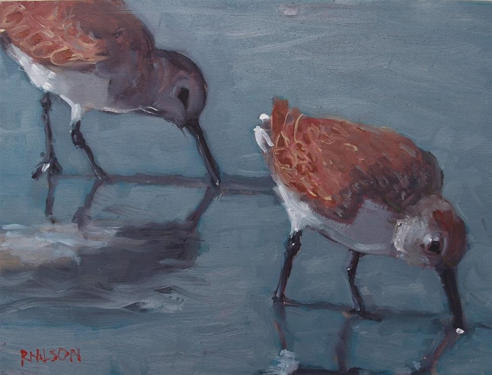 """Shore birds"" original fine art by Rick Nilson"