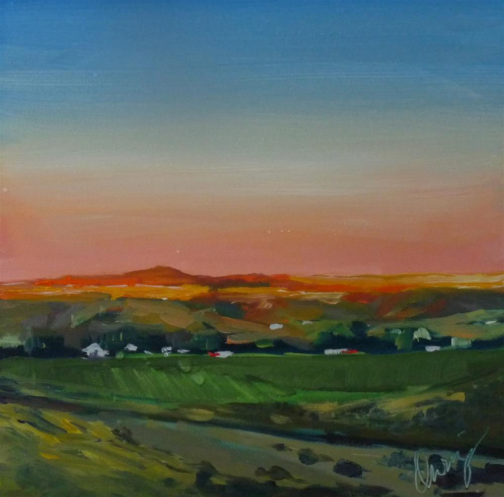 """Border Town"" original fine art by Sharman Owings"