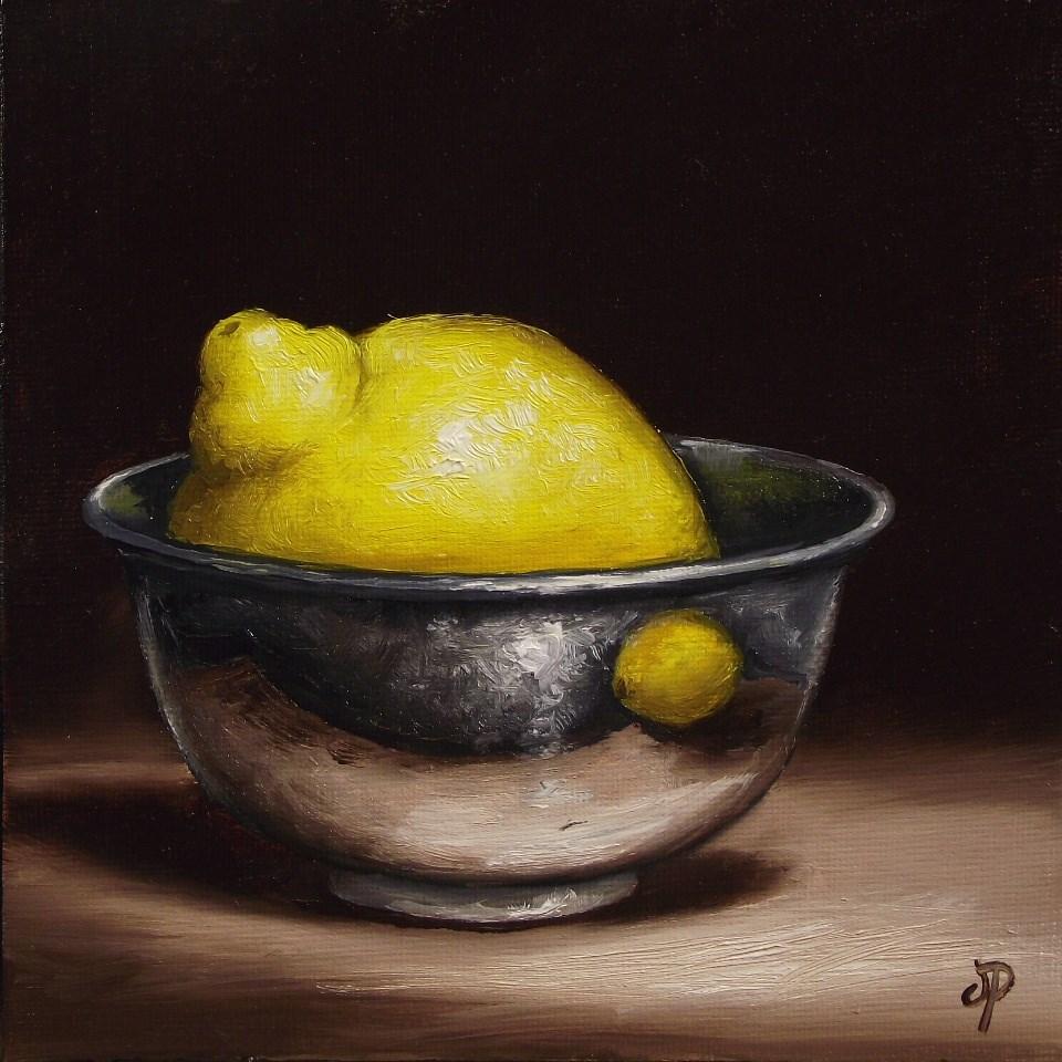 """""""Lemon in Silver"""" original fine art by Jane Palmer"""