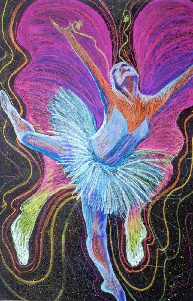 """La Luna Papillion"" original fine art by Susan Duda"