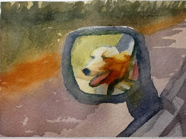 """Wind in the Hair!"" original fine art by Maria Peagler"