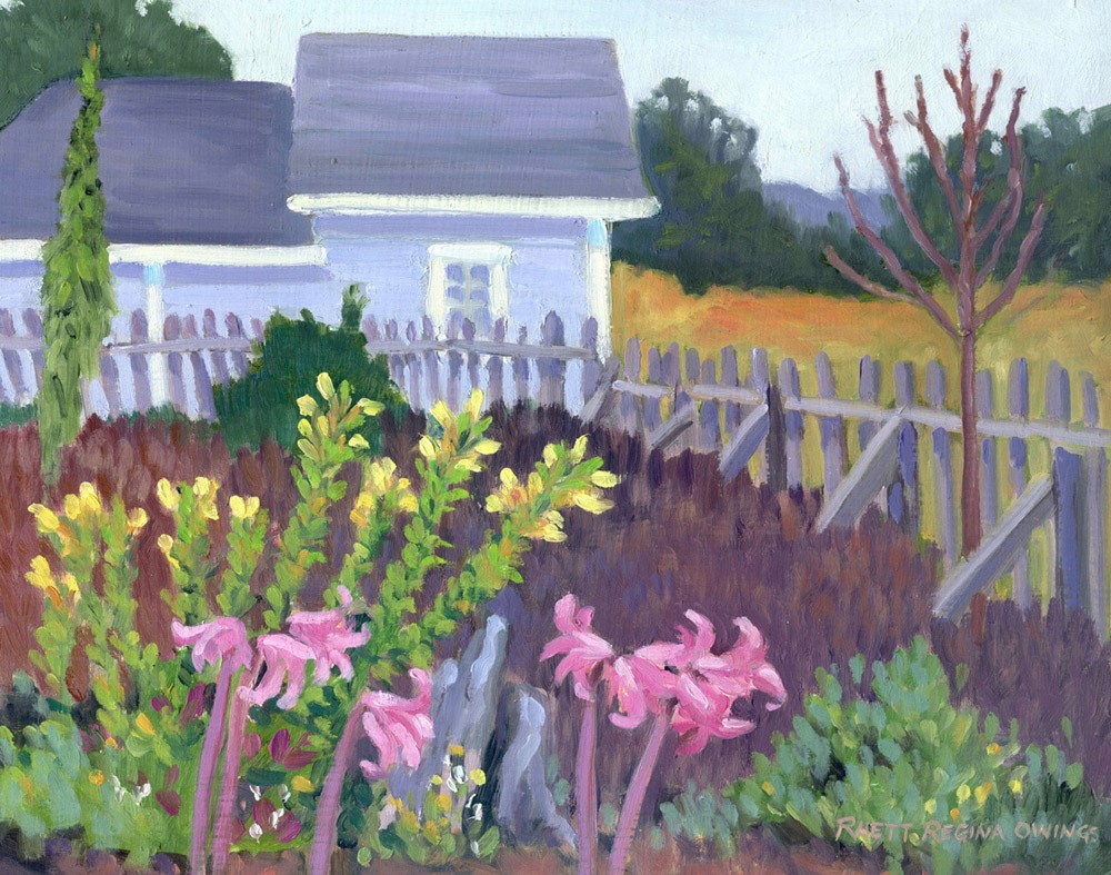 """Mendocino Garden"" original fine art by Rhett Regina Owings"