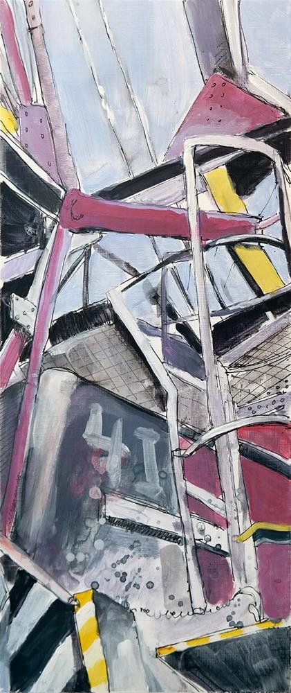 """""""2522 Crane 09"""" original fine art by Dietmar Stiller"""