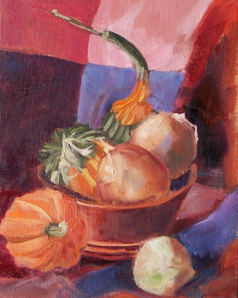"""October Harvest"" original fine art by Linda Marino"