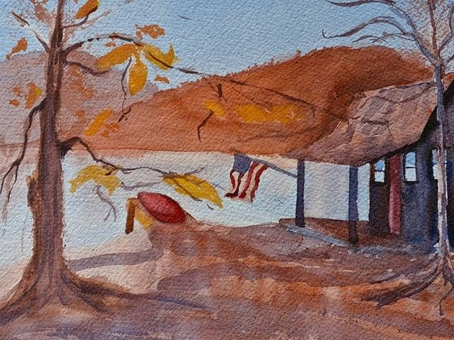 """Fall Shade"" original fine art by Maria Peagler"