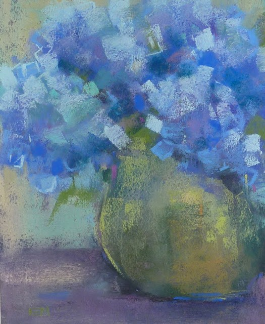 """How to Prepare for a Painting Workshop...hydrangeas"" original fine art by Karen Margulis"