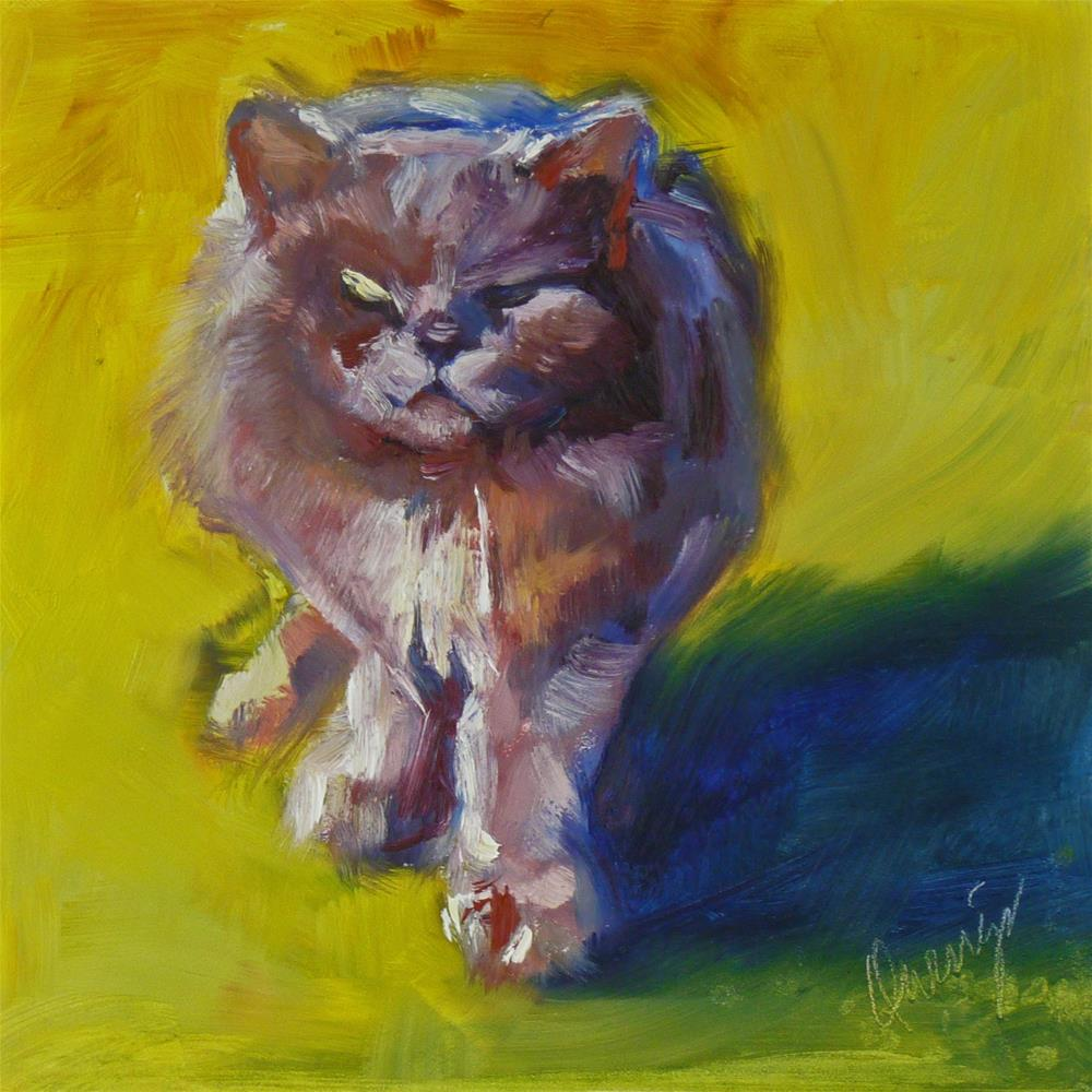 """Juju on the Prowl"" original fine art by Sharman Owings"