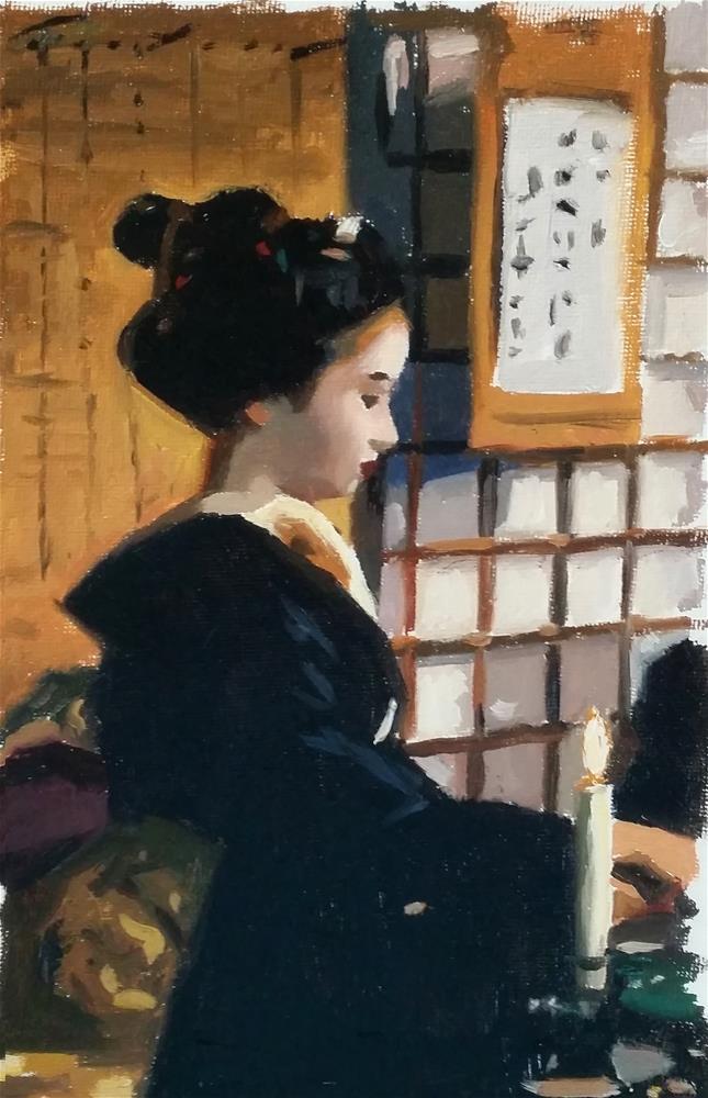 """Teahouse Sketch"" original fine art by Phil Couture"