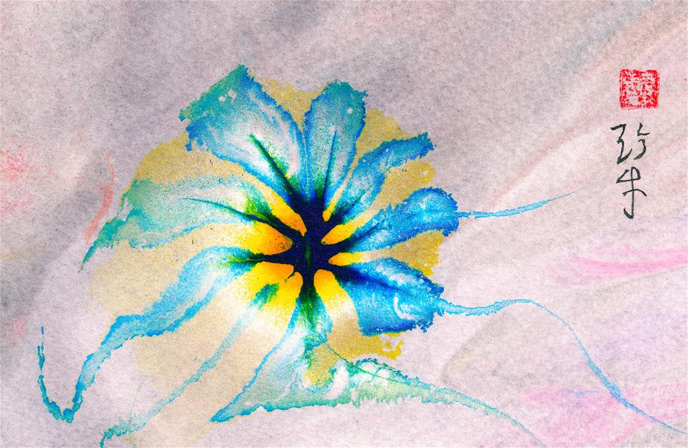 """Illuminated Flower"" original fine art by Janet Gunderson"