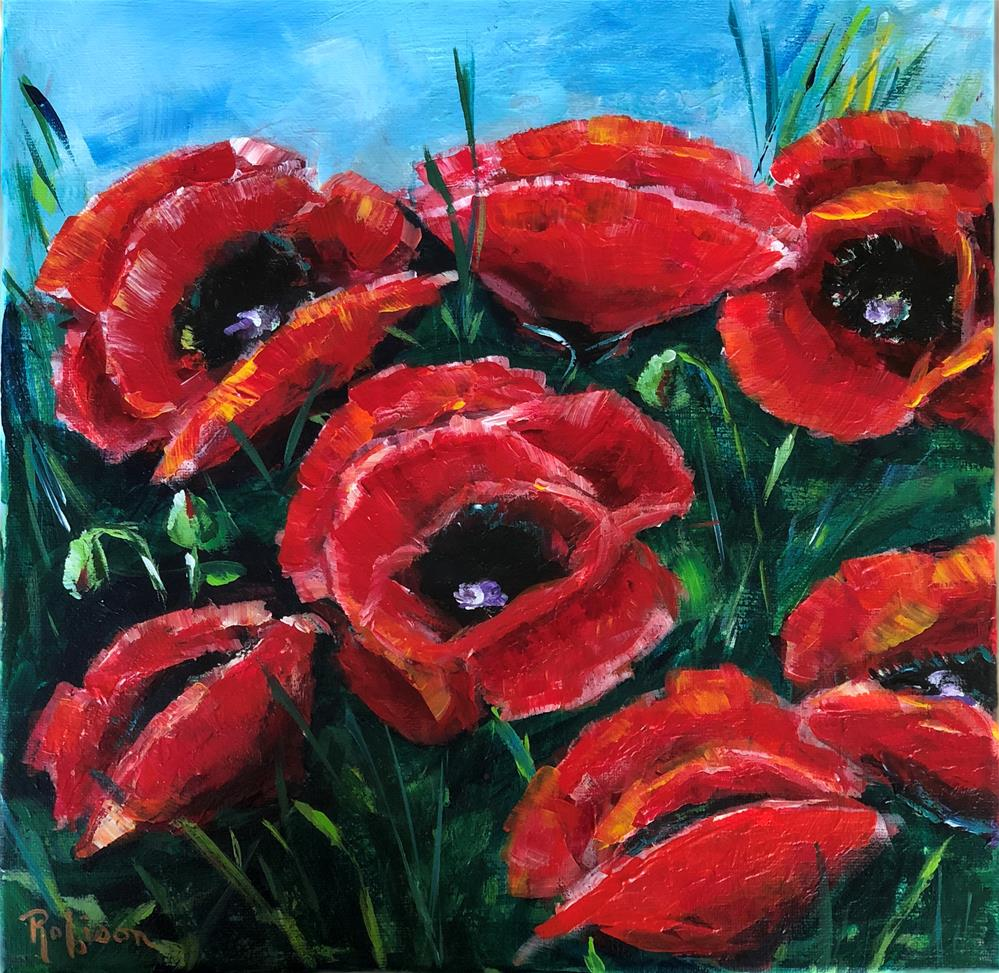 """Wild Red Poppies"" original fine art by Renee Robison"