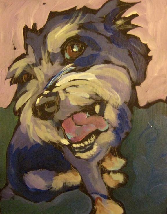 """Scruffy Winks"" original fine art by Kat Corrigan"