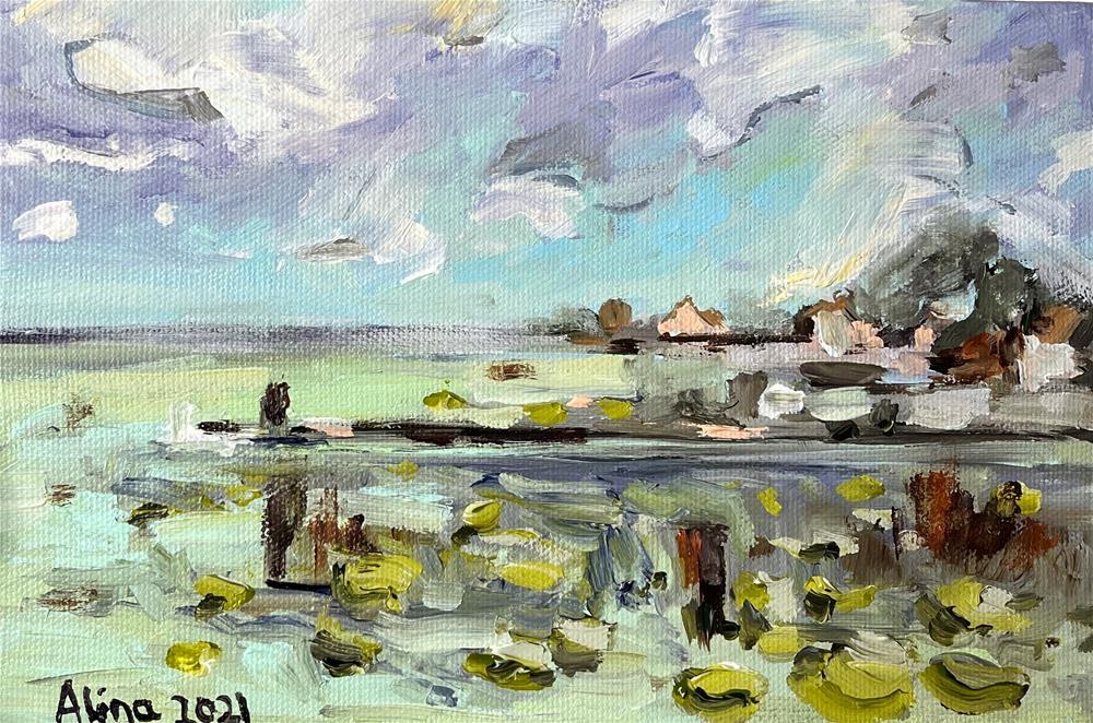 """Bacalar view"" original fine art by Alina Vidulescu"