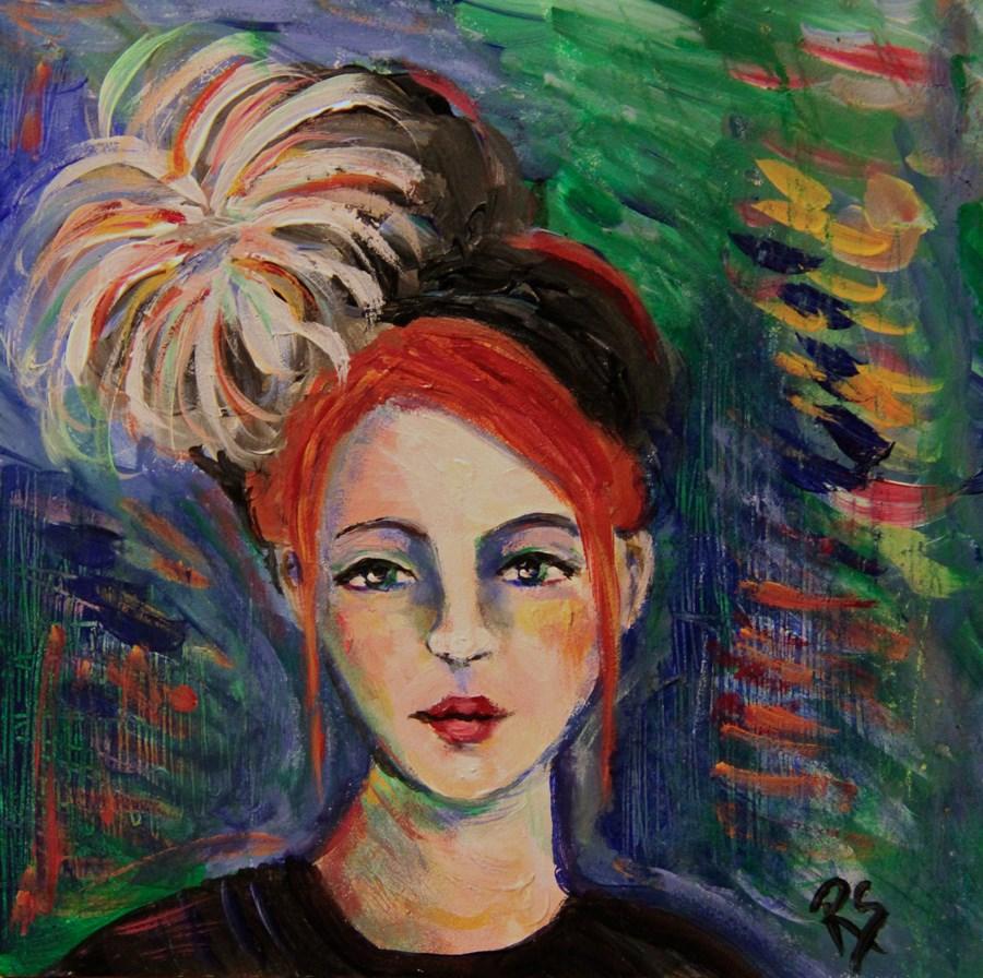 """""""Victorine"""" original fine art by Roberta Schmidt ArtcyLucy"""