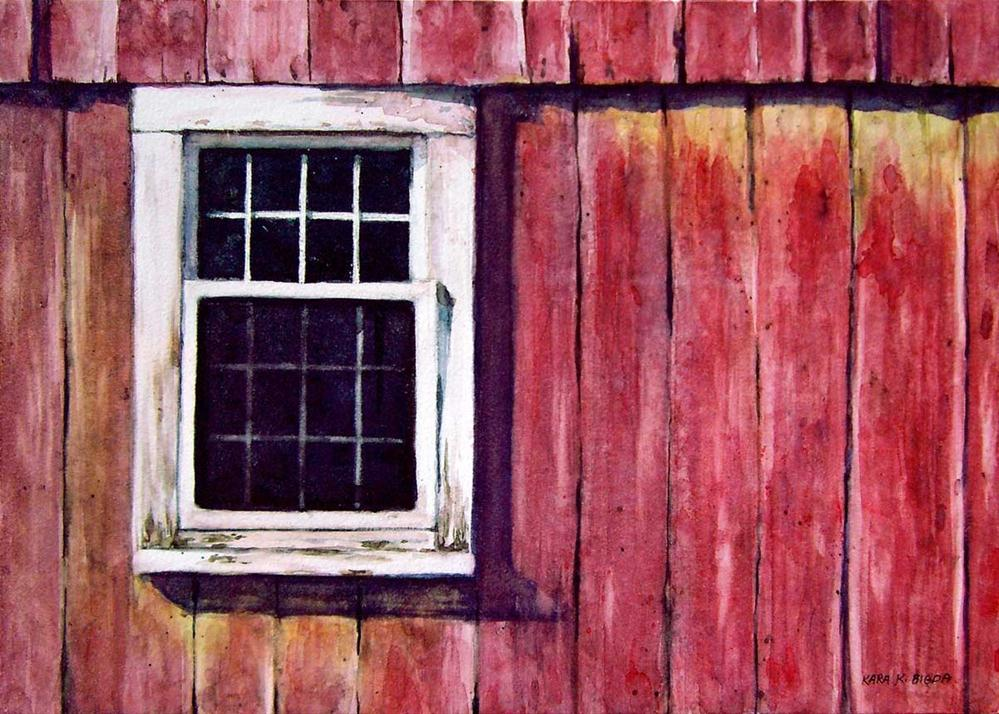 """Barn Window"" original fine art by Kara K. Bigda"