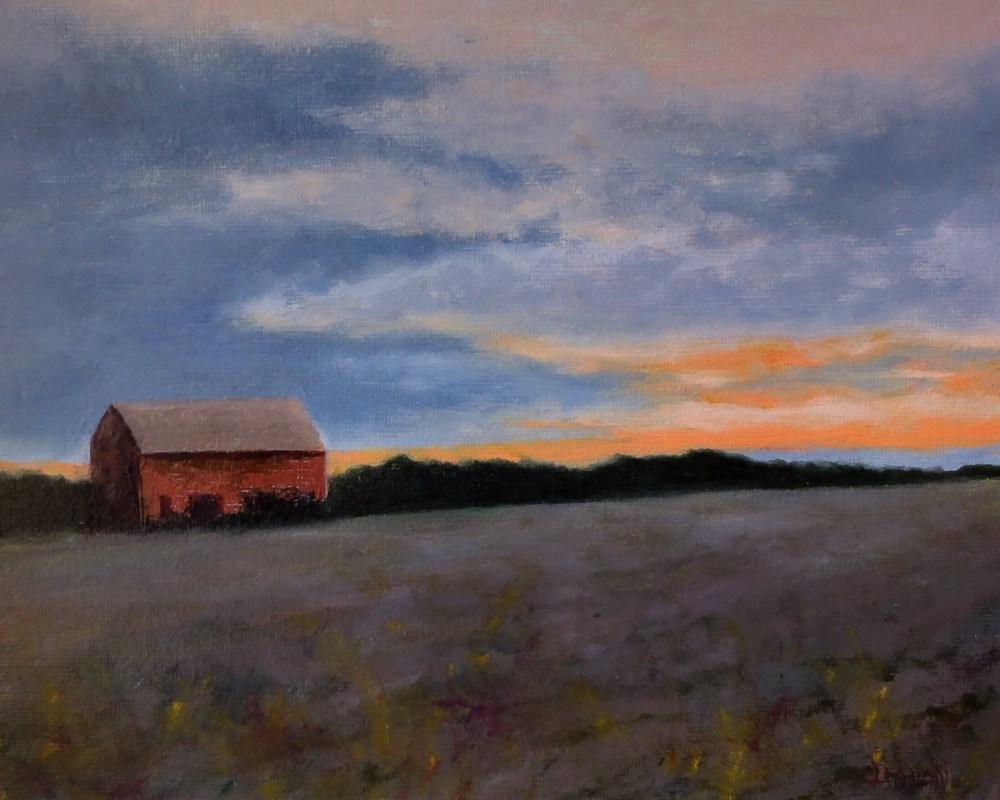 """Sunset After The Plow"" original fine art by Dalan Wells"