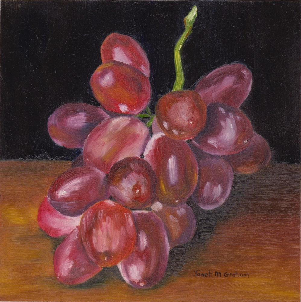 """Bunch of Grapes"" original fine art by Janet Graham"
