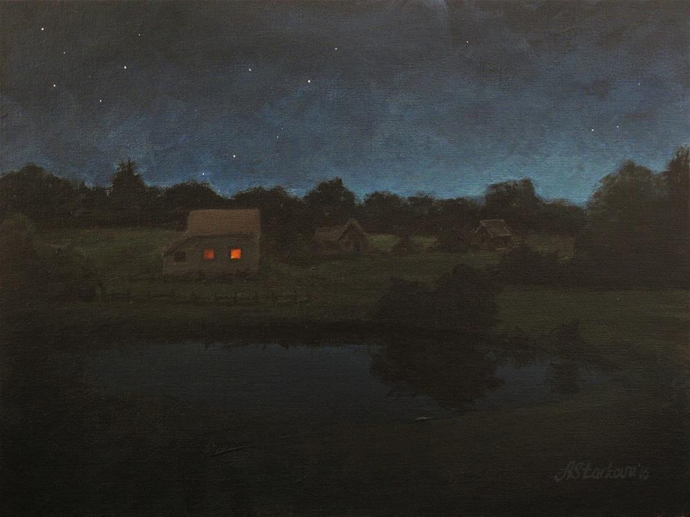 """Whispers of the night"" original fine art by Anna Starkova"