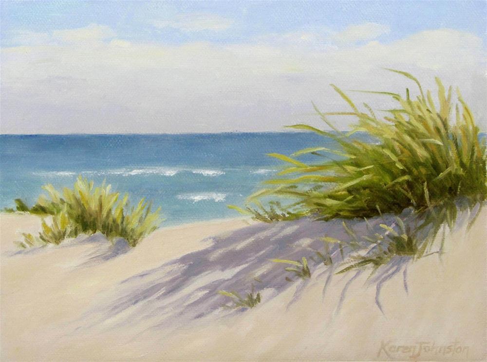 """Dune Grass"" original fine art by Karen Johnston"