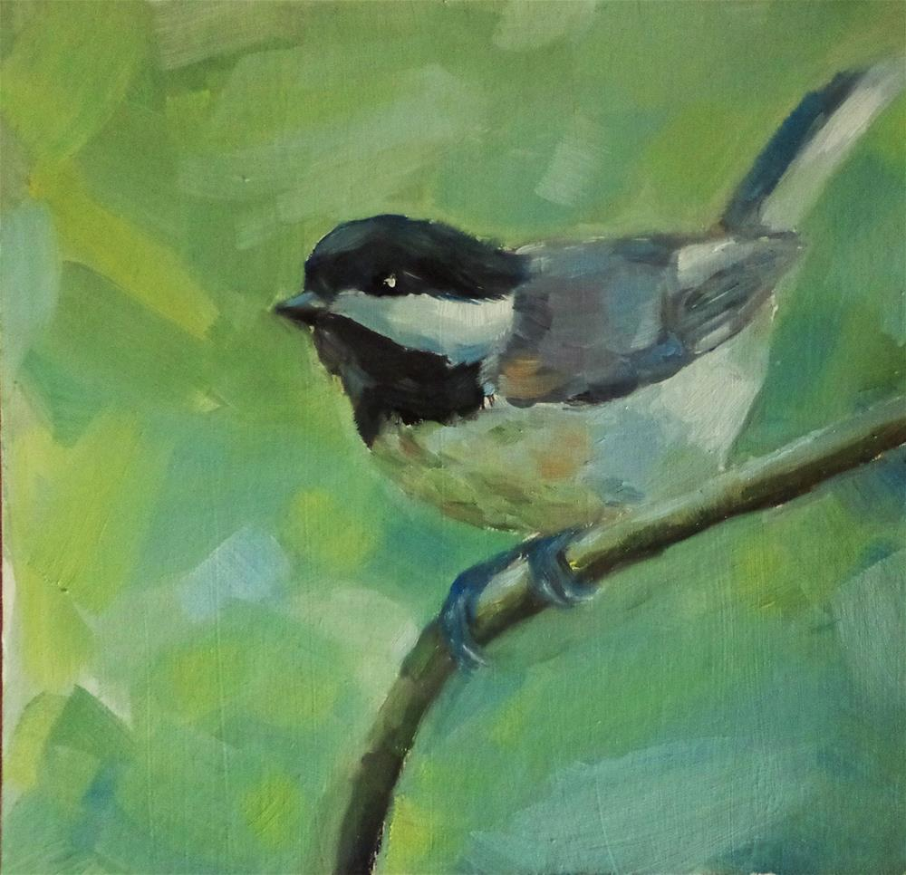 """Chickadee"" original fine art by Maria Z."