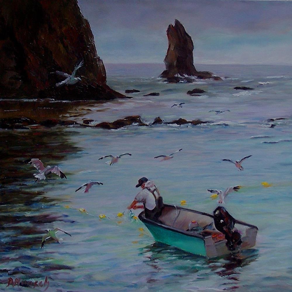 """Old Man of the Sea"" original fine art by Donna Munsch"