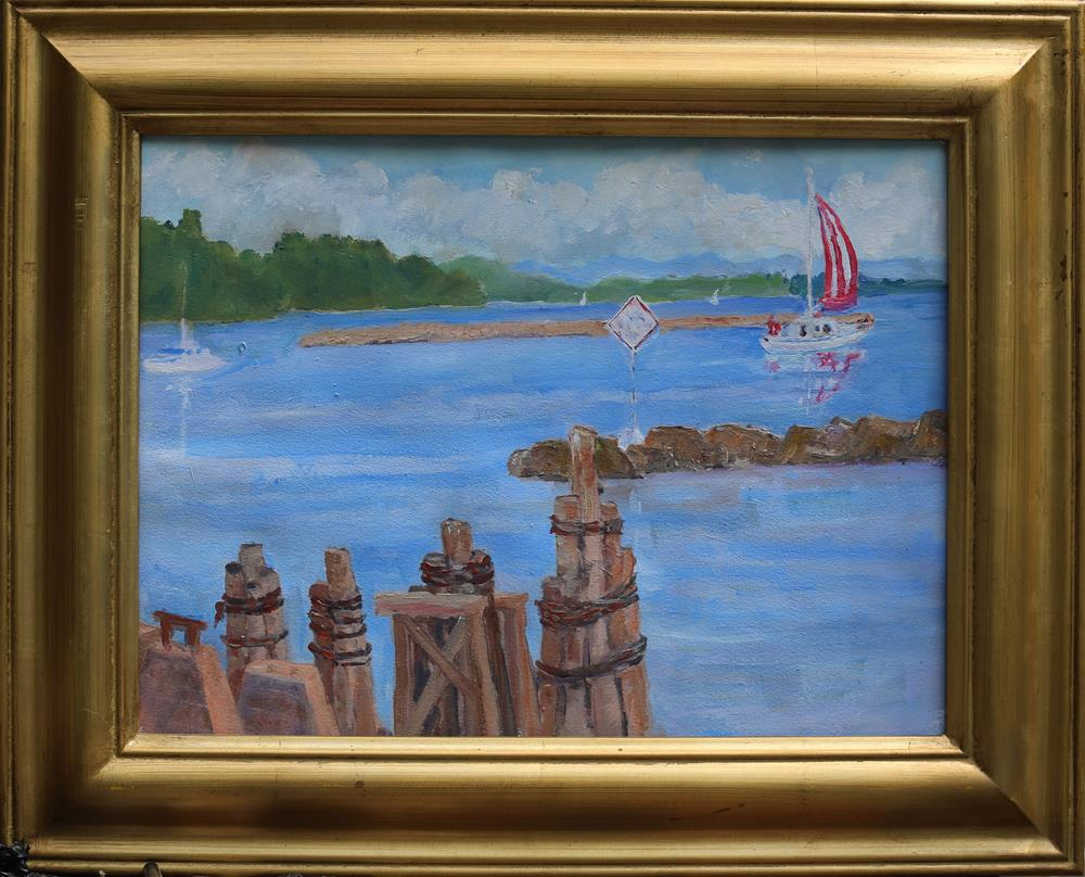 """""""A Good day for a sail"""" original fine art by Michael Saunders"""