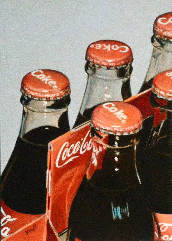 """Old Fashioned Coca-cola Bottles"" original fine art by Kim Testone"