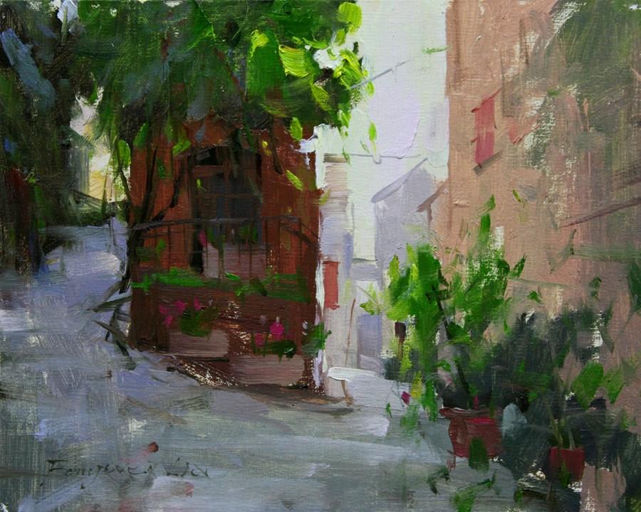 """""""Early Morning"""" original fine art by Fongwei Liu"""