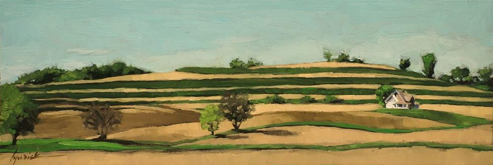 """Lincoln Highway/Farmland, Western Iowa"" original fine art by Karin Jurick"