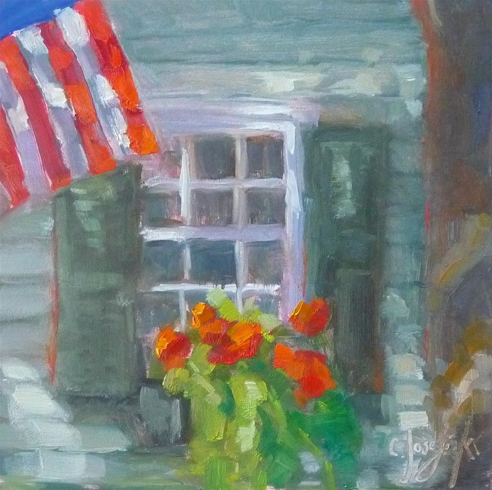 """Window Box"" original fine art by Carol Josefiak"