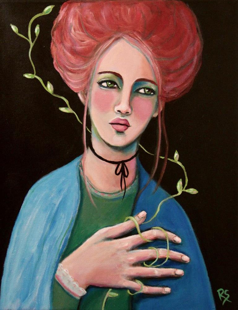 """""""Waiting For Your Return"""" original fine art by Roberta Schmidt ArtcyLucy"""