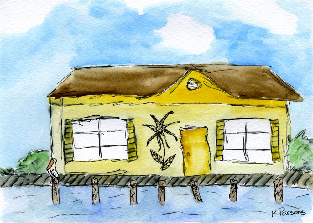 """""""House on the Canal"""" original fine art by Kali Parsons"""