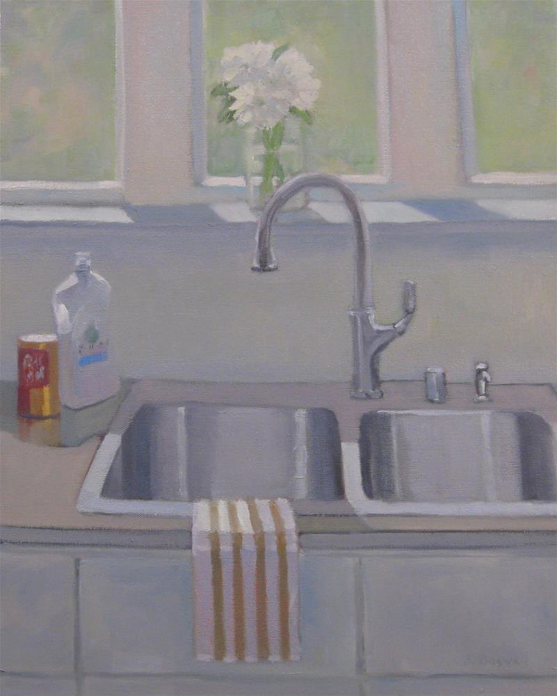 """""""Stainless Sink and Dish Soap"""" original fine art by Jennifer Boswell"""