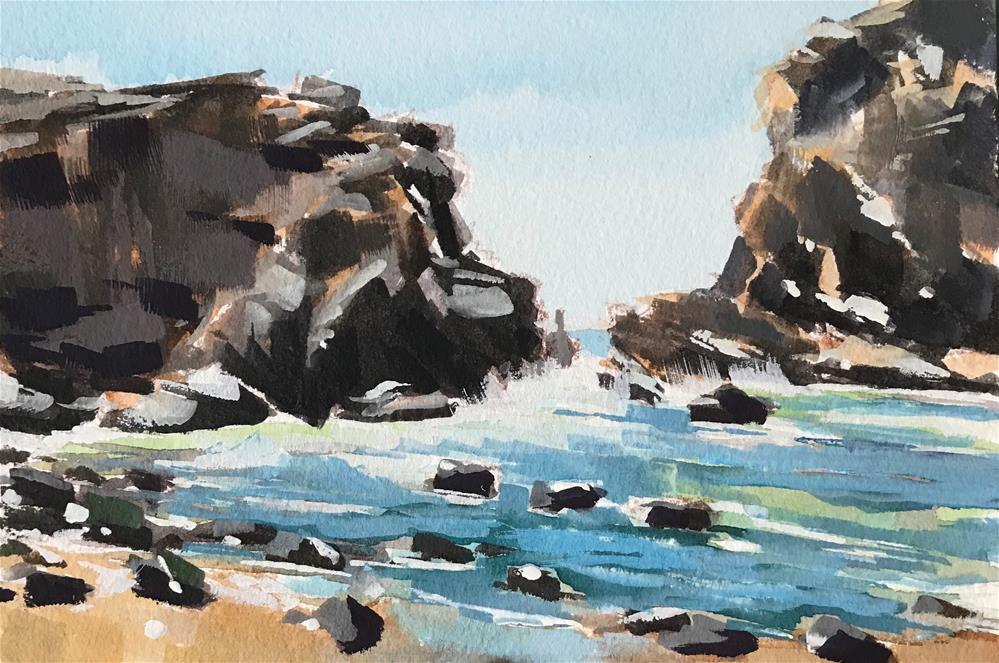"""Pfeiffer Beach Rocks"" original fine art by Sharon Schock"