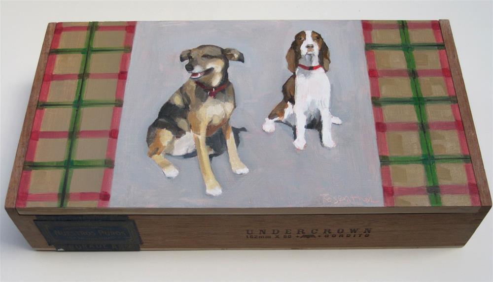 """Tartan Dogs"" original fine art by Robin Rosenthal"