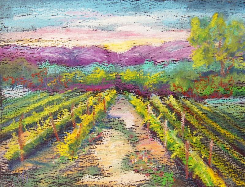 """Spring Vines in Provence"" original fine art by Marion Hedger"