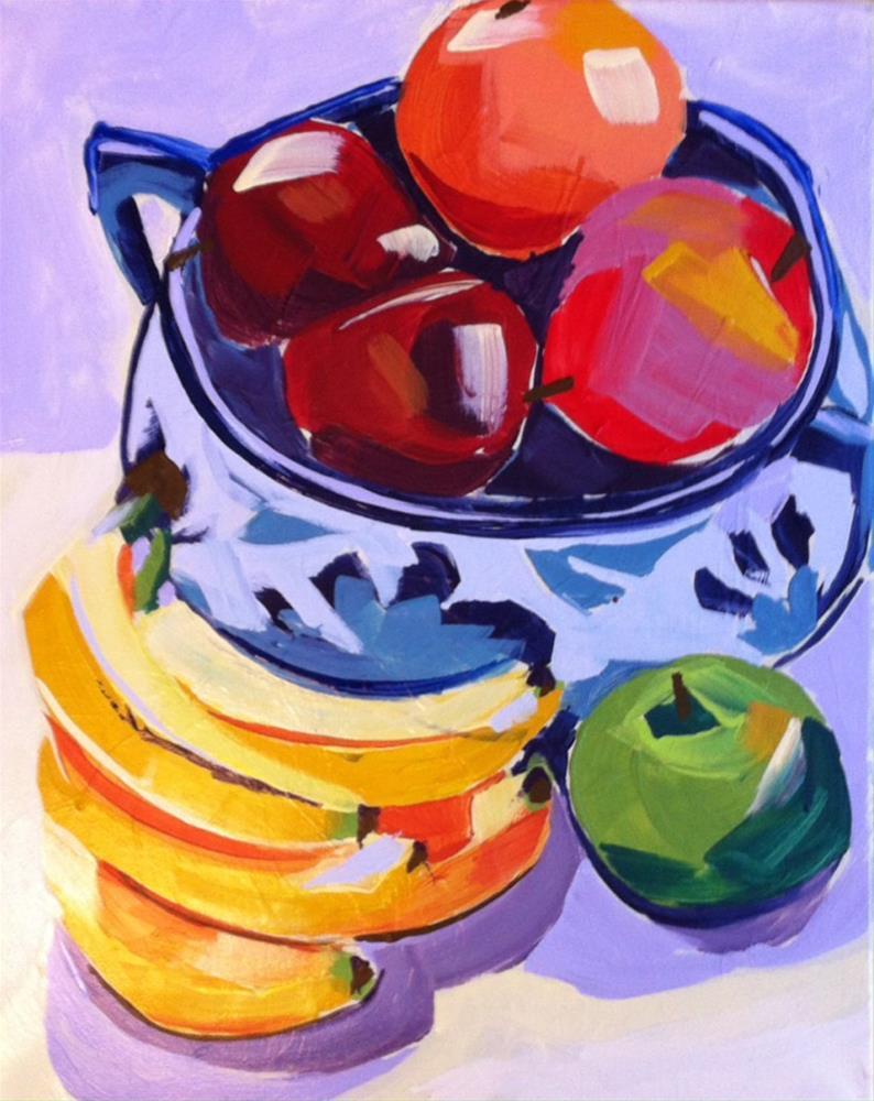"""""""Bowl of Summer"""" original fine art by Teddi Parker"""