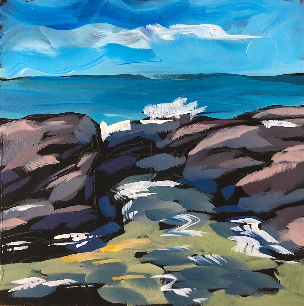 """Water Seeks Sky"" original fine art by Kat Corrigan"