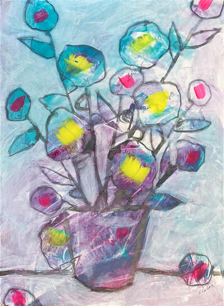 """""""Letting Things Go Allows Us to Bloom"""" original fine art by Kali Parsons"""