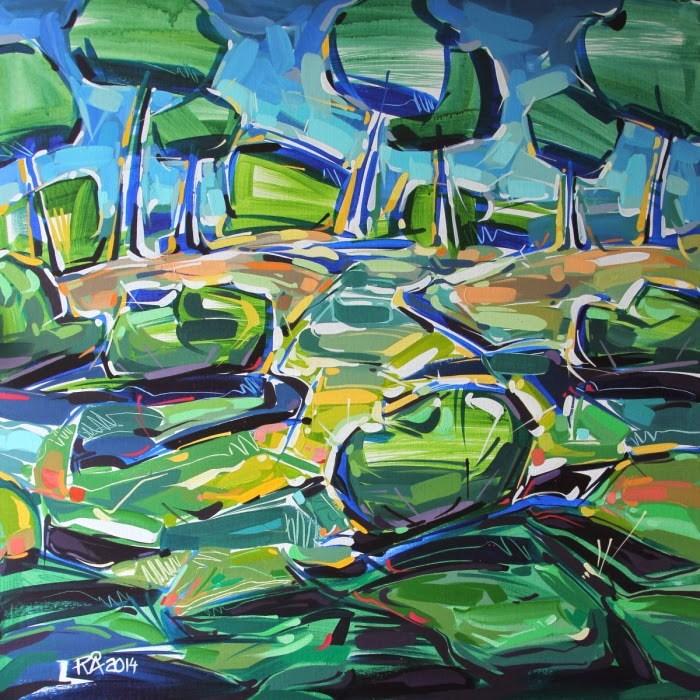 """Landscape Exploration 11"" original fine art by Roger Akesson"