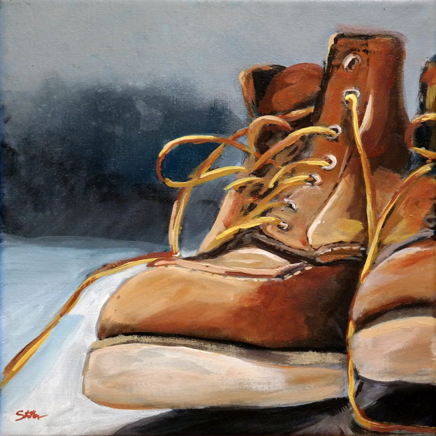 """1310 This Boots are made for Walking"" original fine art by Dietmar Stiller"