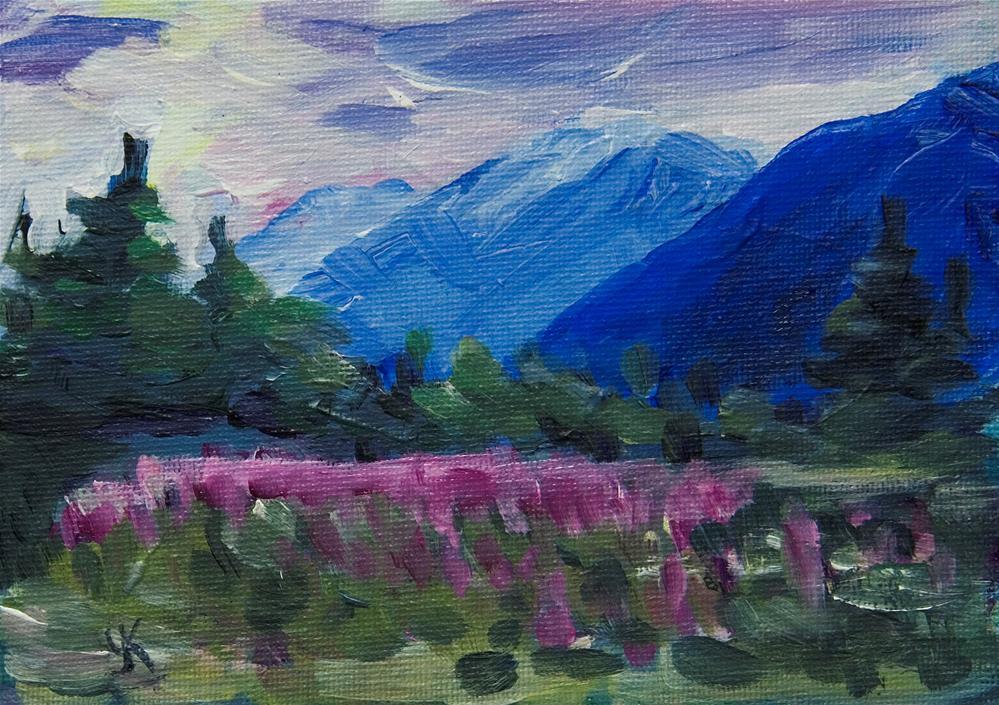 """""""Outer Point, Alaska."""" original fine art by Yulia Kazansky"""